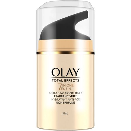 Olay Total Effects Fragrance Free 7-in-1 Anti-Aging Moisturizer, 1.7 fl oz