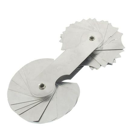 Unique Bargains Unique Bargains Silver Tone Concave Convex R15-25mm Radius Gauge Gage Measure Tool