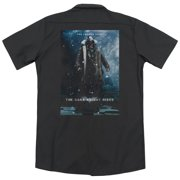 Dark Knight Rises Bane Poster (Back Print) Mens Work Shirt