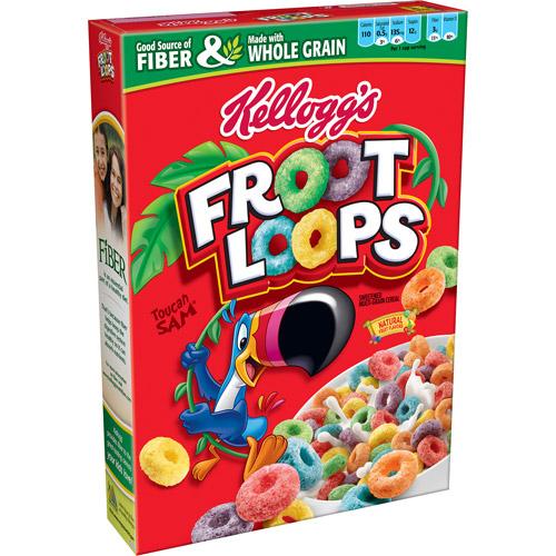 Kellogg's Froot Loops Double Lemony Loot Multi-Grain Cereal, 17 oz