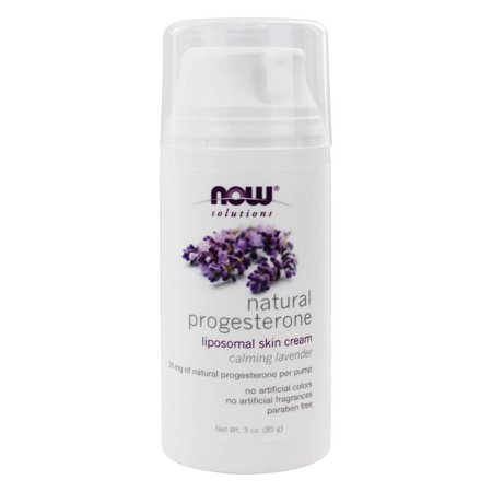 Now Foods   Natural Progesterone Liposomal Skin Cream Calming Lavender   3 Oz