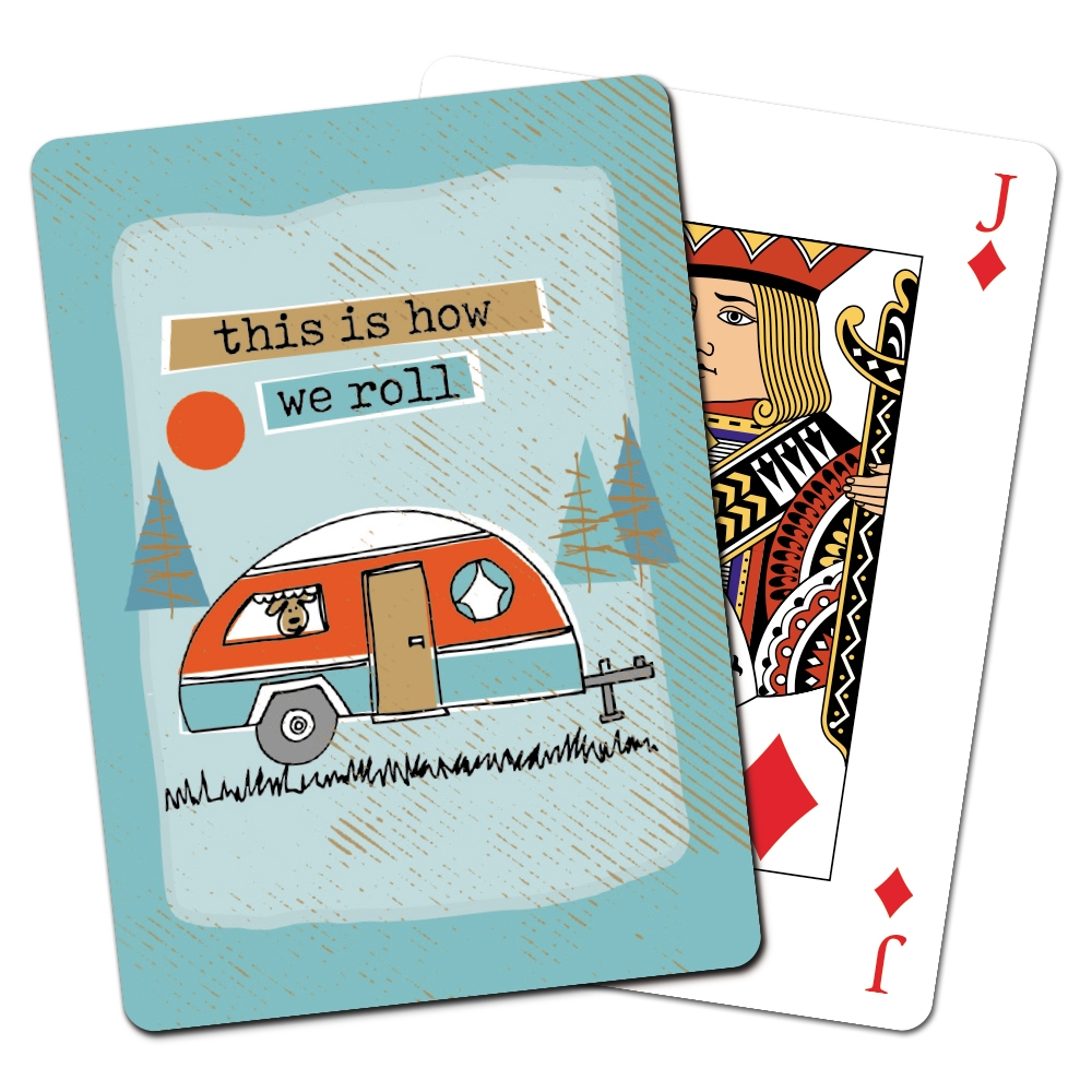 Tree-Free Greetings How We Roll Playing Cards -CD15451