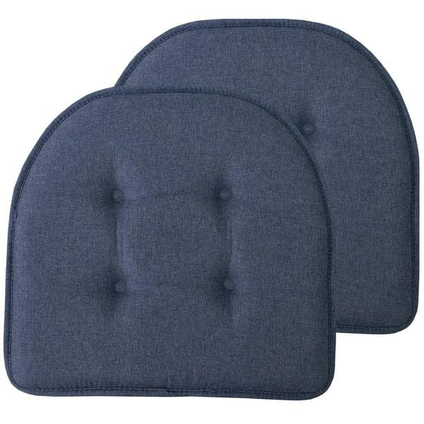 Slip Back 17 X 16 Chair Pad Cushion, Memory Foam Chair Pad 2 Pack