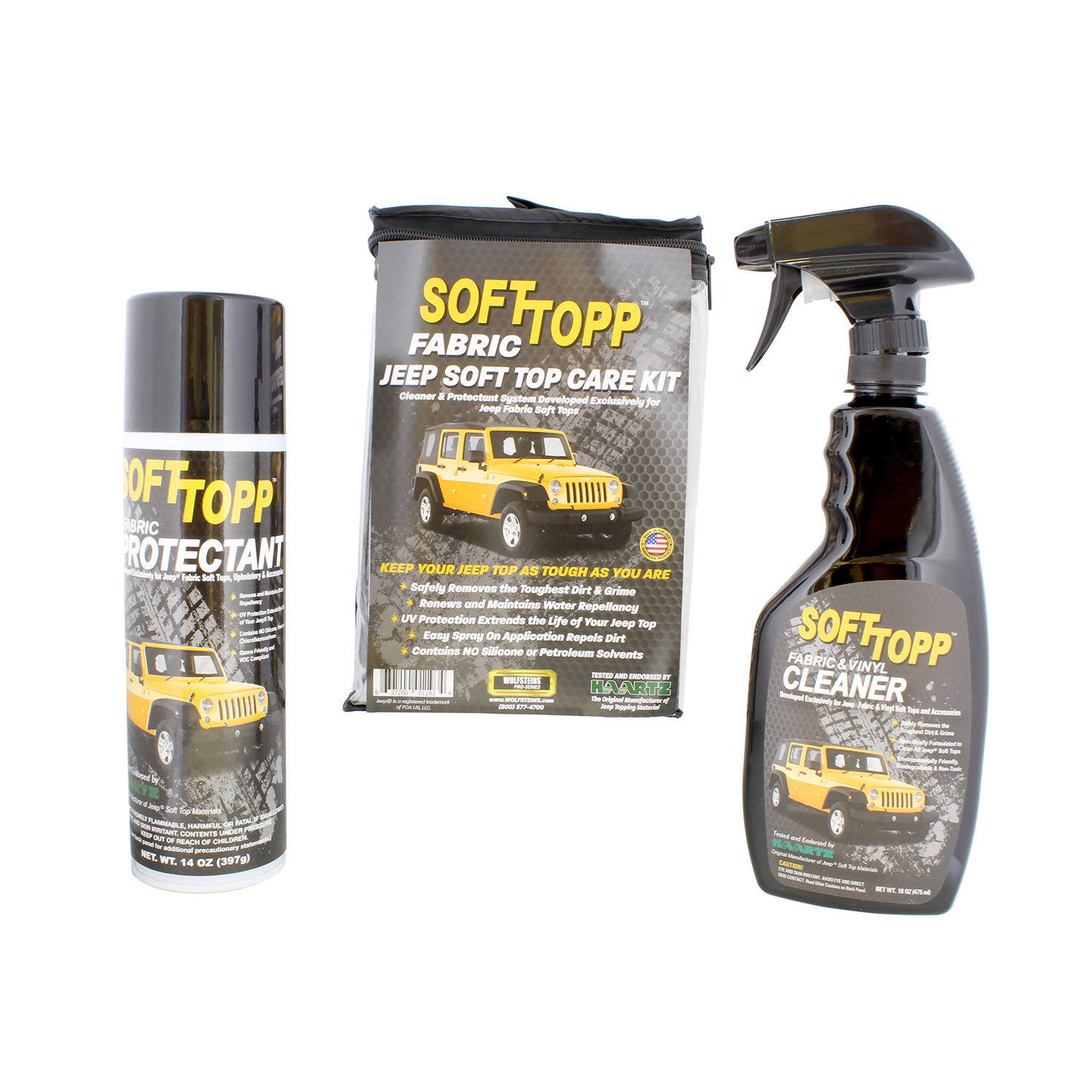 RaggTopp 1193 SoftTop Jeep Fabric Top Cleaner & Protectant Kit - Pack of 2