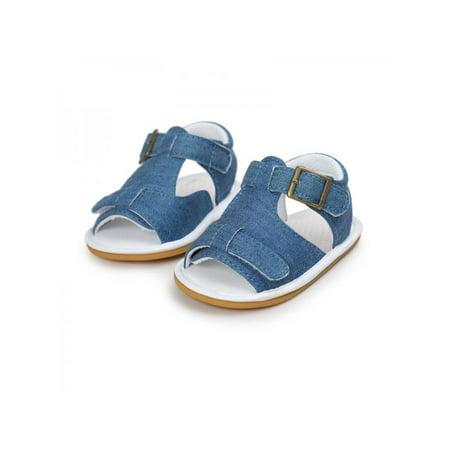 Babula Baby Boys Girls Summer Non-slip Soft Rubber Sole Sandals Shoes