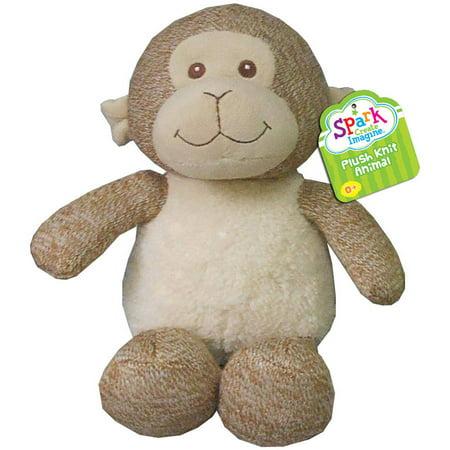 Spark Create Imagine Plush Knit Animal, Monkey (Spank Monkey)