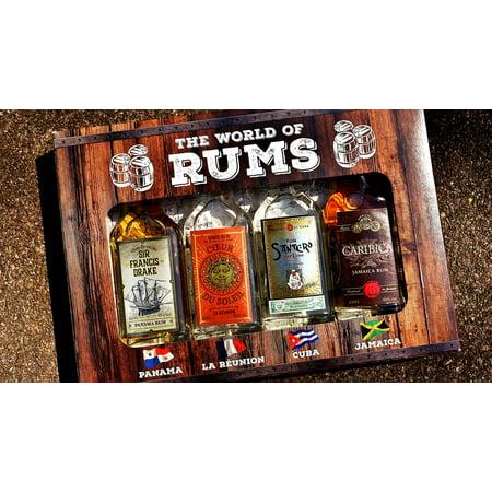 LAMINATED POSTER Rum Alcohol Bottles Different Origin Poster Print 24 x 36 ()