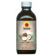 Tropic Isle Living Jamaican Coconut Black Castor Oil, 4 oz (Pack of 2)