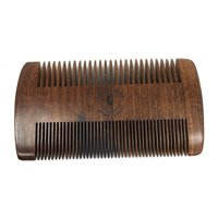 Wooden Beard Comb Fine Tooth; Premium Sandal Wood Pocket Sized Combs By Better Off Bearded