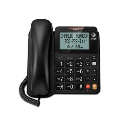 ATT Corded Speakerphone with Display - BLACK