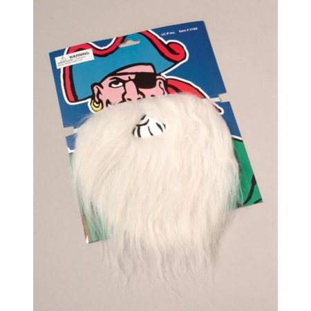 OTC Disguise Santa Claus, Wizard, Biker Fake Beard and Mustache Costume, White - Mickey Mouse Wizard Costume