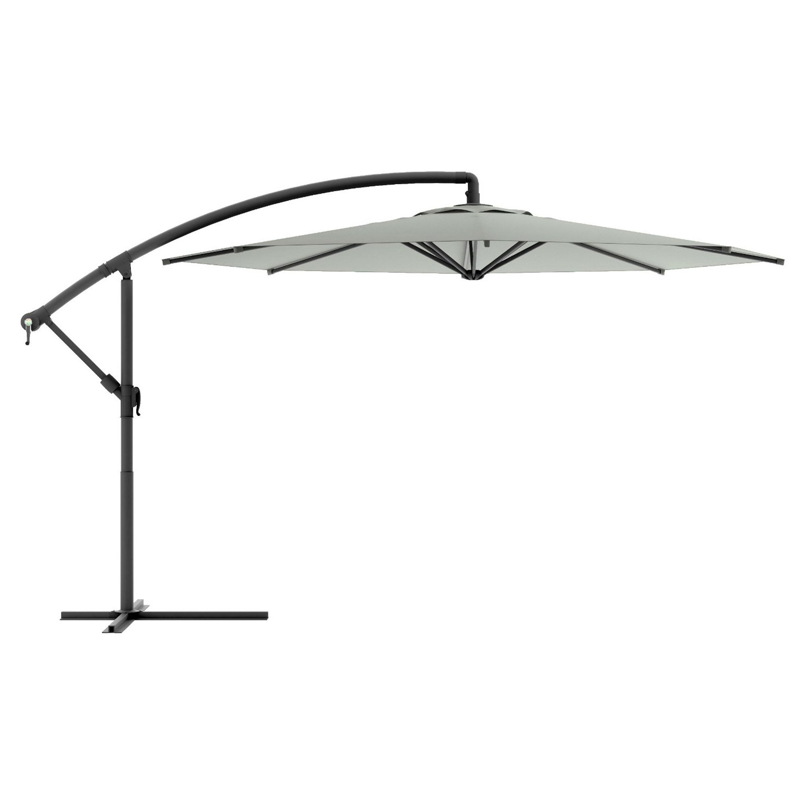 CorLiving Offset Patio Umbrella, Multiple Colors