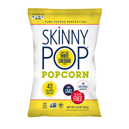 SkinnyPop Popcorn, White Cheddar, 6.7oz Sharing Size, Gluten-Free Popcorn, Non-GMO, No Artificial Ingredients, Healthy Snack](Halloween Healthy Snacks)