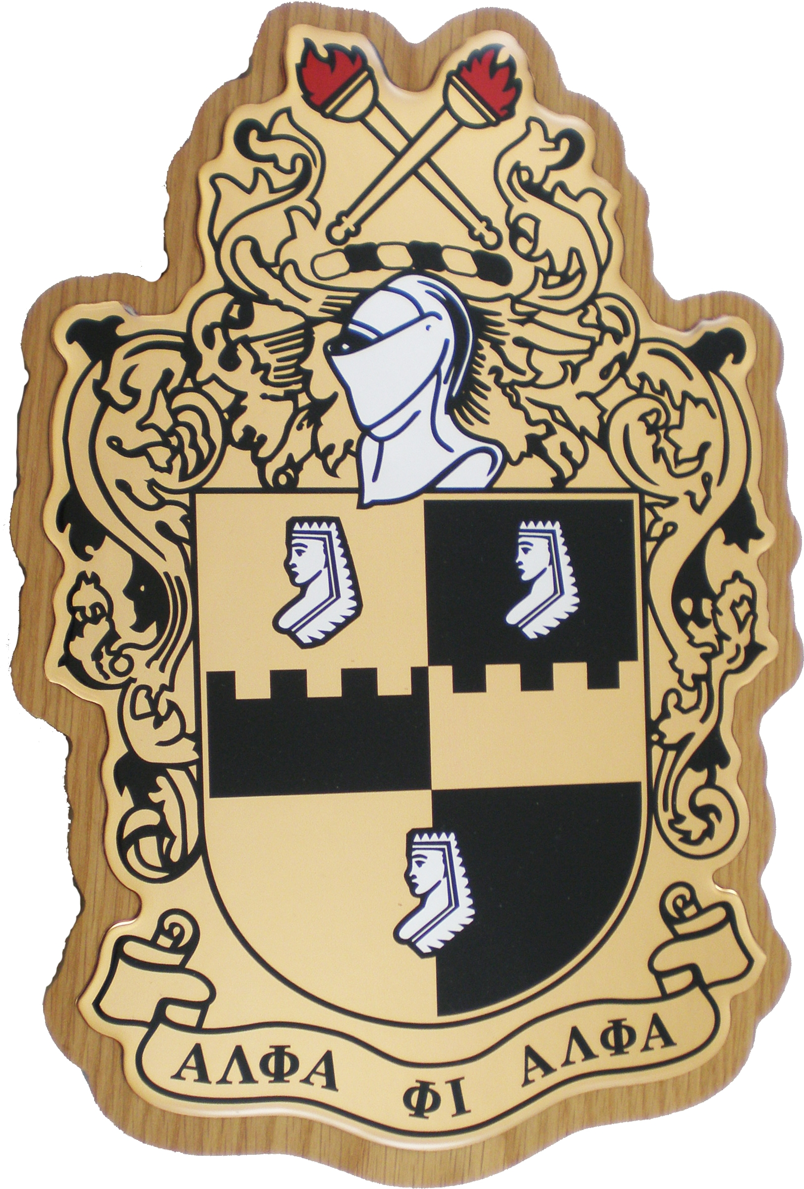 ALPHA PHI ALPHA Fraternity Shield Black 11 x 17 Art Print