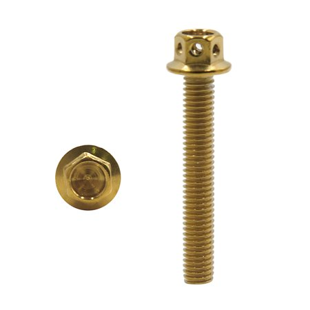 20Pcs Gold Tone Motorcycle Stainless Steel Hexagon Bolts Hex Screws M6 x 40 - image 2 of 3