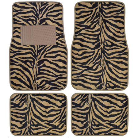 Bdk Zebra Car Floor Mats Animal Prints Mat 4 Pieces