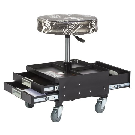 Gas monkey garage pneumatic seat with toolbox 3 drawers for Garage seat argenteuil 95