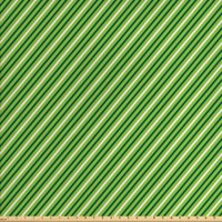 Geometric Fabric by The Yard, Traditional Irish Striped Pattern Happy St. Patrick's Day Theme, Decorative Fabric for Upholstery and Home Accents, by Ambesonne