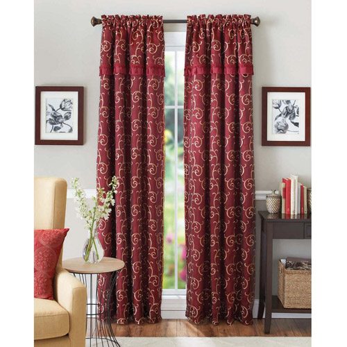 Better Homes and Gardens Scroll Curtain Panel