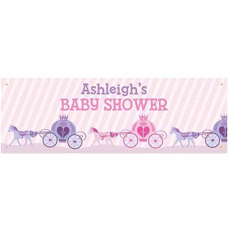 Personalized princess baby shower banner Baby shower banners