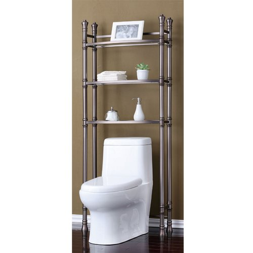 Best Living, Inc. Monaco Bath Etagere Space Saver, Brushed Titanium