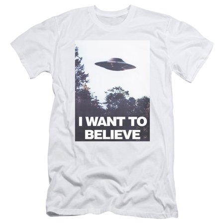 X Files - Believe Poster - Slim Fit Short Sleeve Shirt - X-Large
