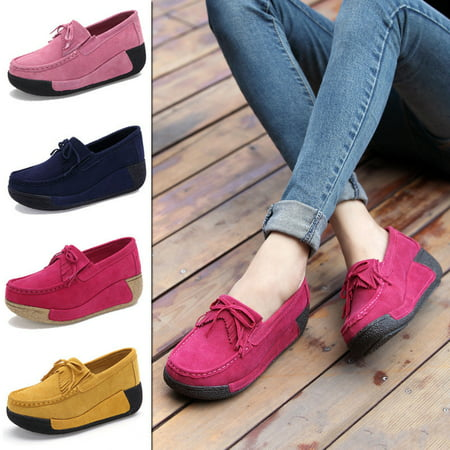- Women Platform Tassel Loafer Single Shoes