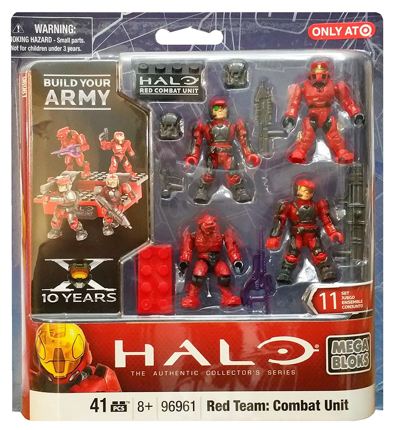 Mega Bloks Halo Exclusive Set #96961 UNSC Red Team Combat Unit: Spartan Marines
