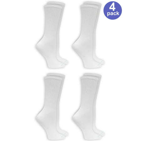 Dr.Scholl's Women's Relaxed Fit Crew Socks, 4 Pack