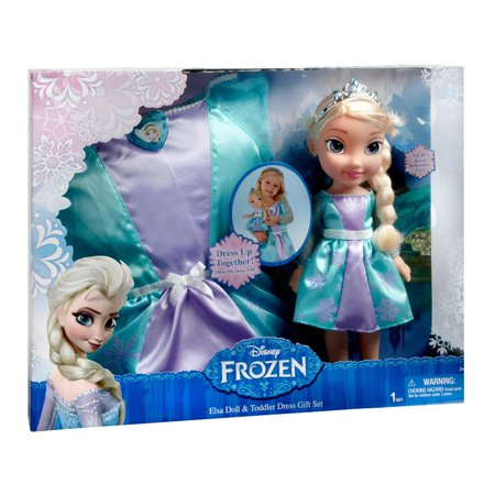 Disney Princess - Elsa Toddler 18 Inch Doll with Matching Child's Dress