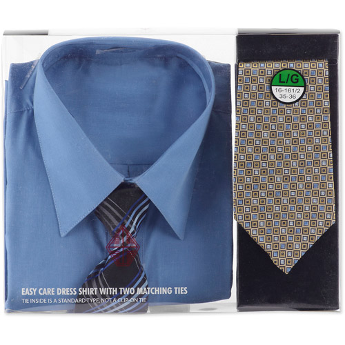 Big Men's Dress Shirts with 2 Matching Ties