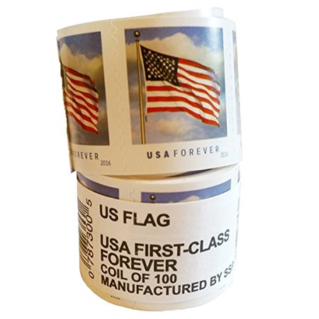 US Flag 1 Roll of 100 USPS Forever First Class Postage Stamps Old Glory Patriotic Celebration (100
