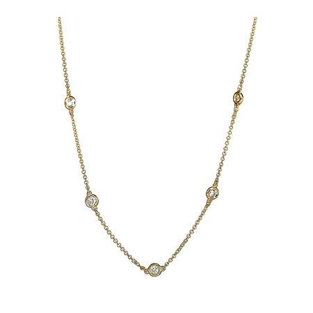 Trio 14K Gold Diamond Station Necklace