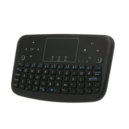 A36 Mini Wireless Keyboard Rechargeable Touchpad Keyboard For Android Smart TV PC PS3 ()