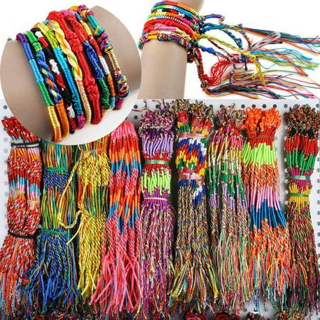Mosunx 40Pcs Wholesale Jewelry Lot Braid Strands Friendship Cords Handmade Bracelets](Golf Jewelry Wholesale)