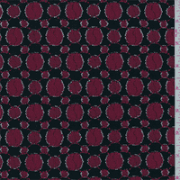 Black/Red Dot Lace, Fabric By the Yard