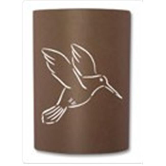 Slip On Sconce HB-RT-012 Rust Hummingbird Sconce. Jelly jar light fixture included by Slip On Sconce