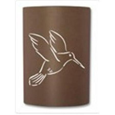 Slip On Sconce HB-RT-012 Rust Hummingbird Sconce. Jelly jar light fixture included