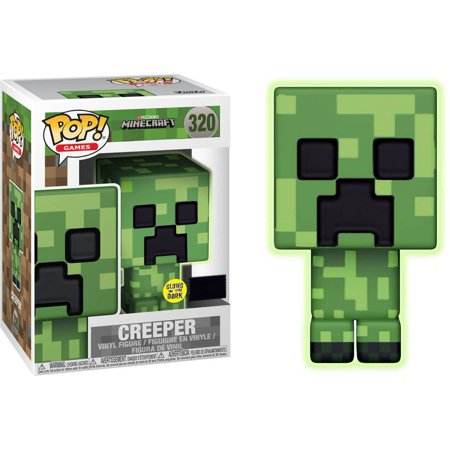 Minecraft Funko Pop  Video Games Creeper Vinyl Figure  Glow In The Dark