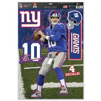 "New York Giants Eli Manning 11""x17"" Multi-use Decal Sheet"