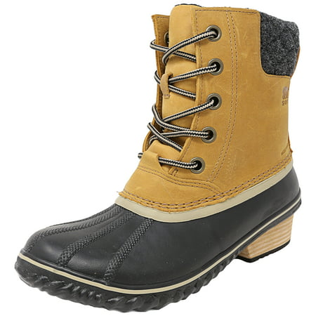Sorel Women's Slimpack Ii Lace Elk / Black High-Top Leather Snow Boot - 6.5M
