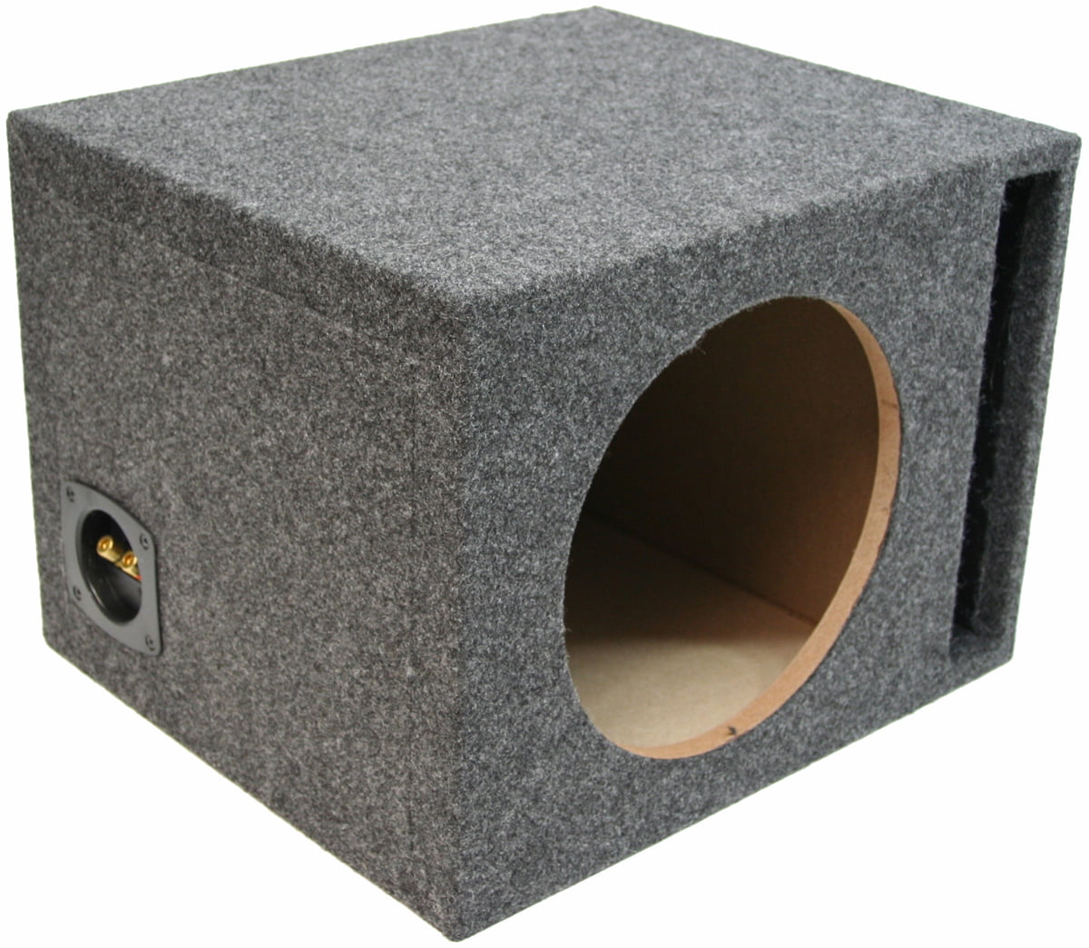 Single 12 Inch Ported Subwoofer Box Car Audio Stereo Bass Speaker Sub Enclosure Walmart Com Walmart Com