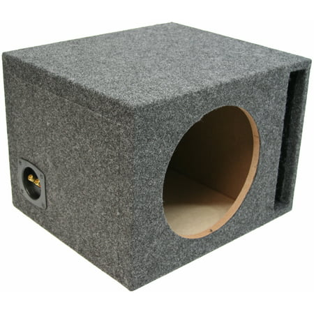 Single 12-Inch Ported Subwoofer Box Car Audio Stereo Bass Speaker Sub Enclosure ()