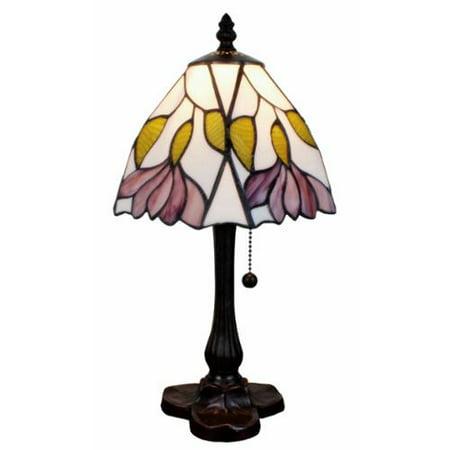 amora lighting tiffany style floral design mini table lamp walmart. Black Bedroom Furniture Sets. Home Design Ideas