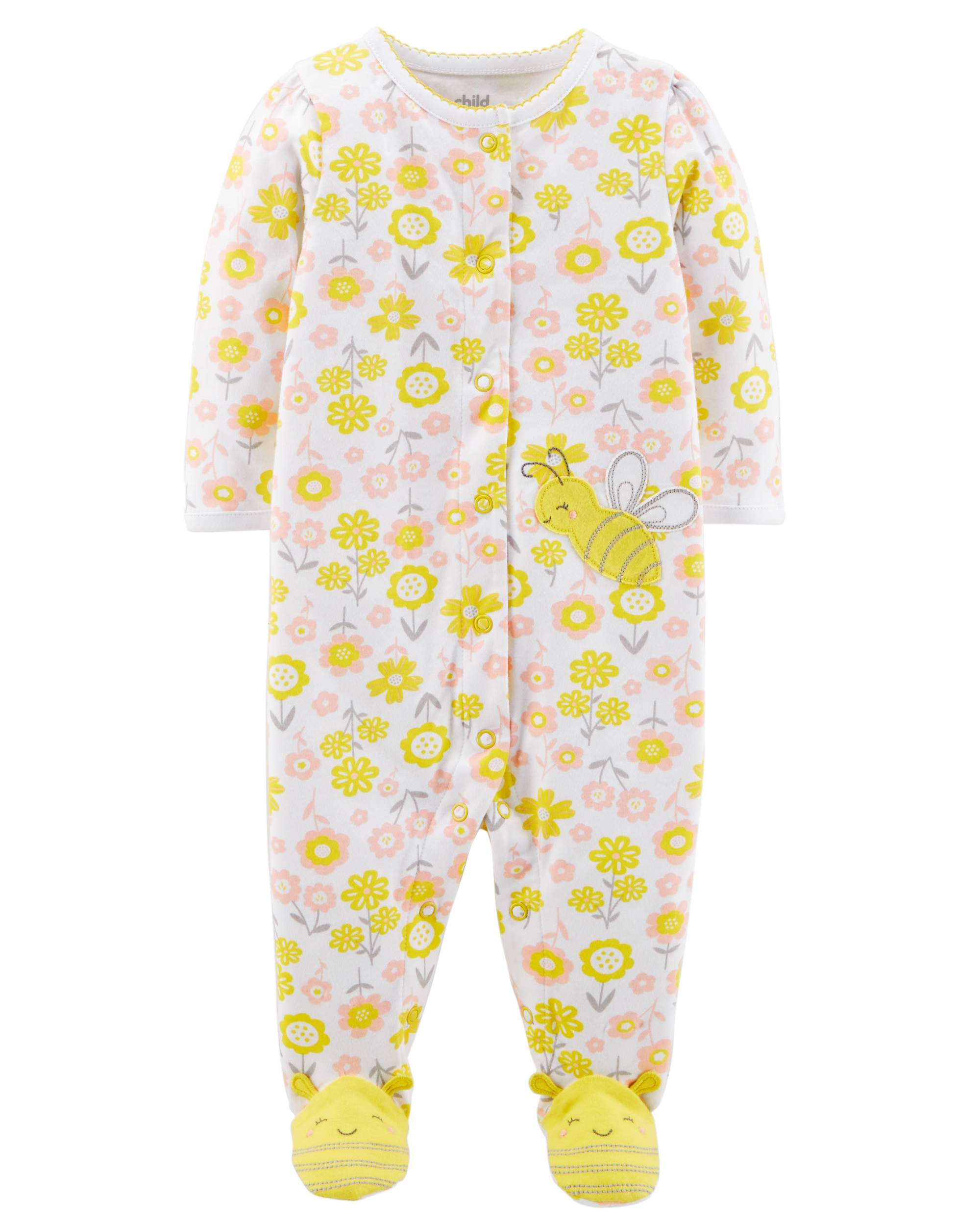 Baby Girl Button-up Sleep 'N Play