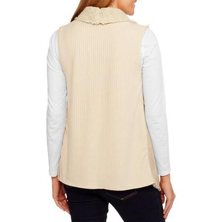 Concepts Women's Faux Suede Shearling Vest