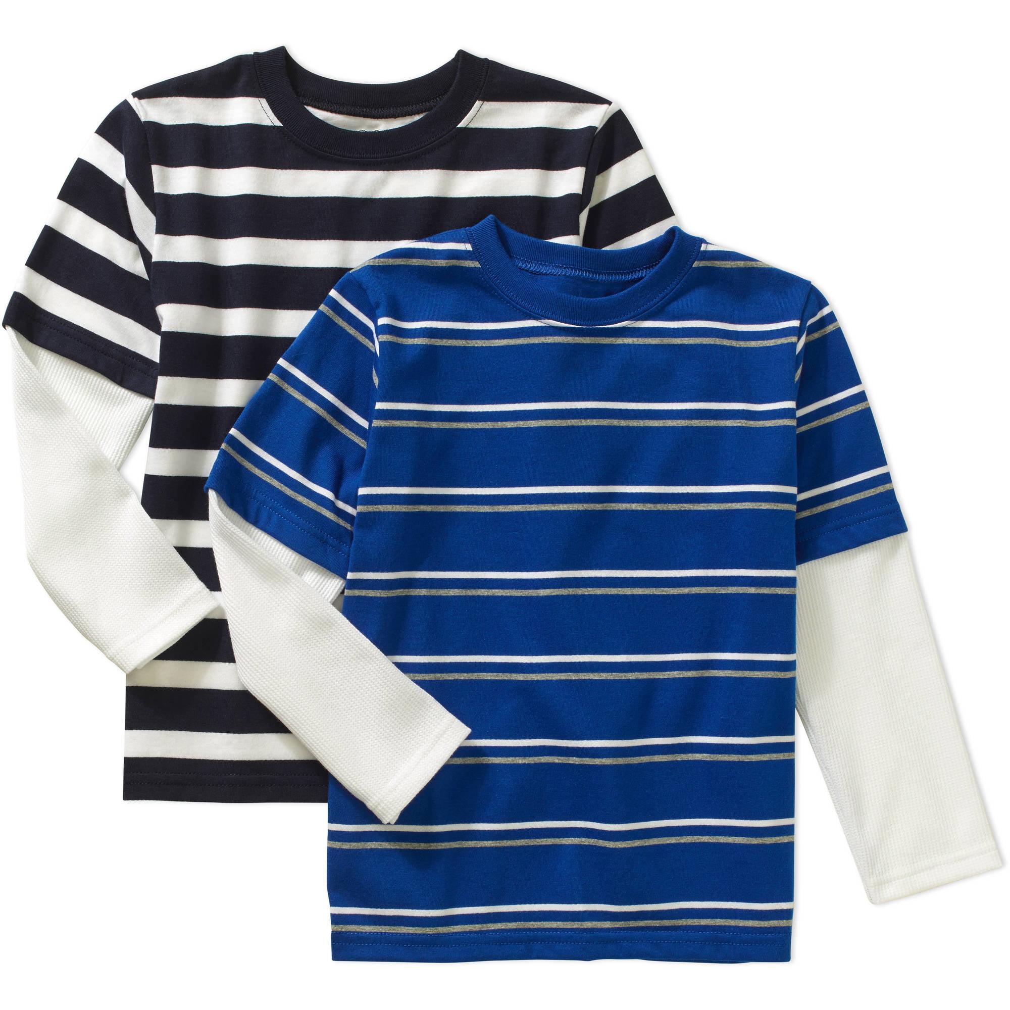 Image of 365 Kids from Garanimals Boys' 2-Piece Long Sleeve Stripe Hangdown Tee Set
