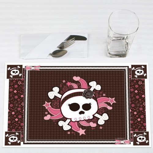 Skullicious Girl Skull Party Placemats Set of 12 by Big Dot of Happiness, LLC