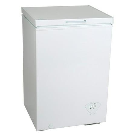 Koolatron KTCF99 3.5 Cubic Foot (99 Liters) Chest Freezer with Adjustable Thermostat (Dc Chest Freezer)