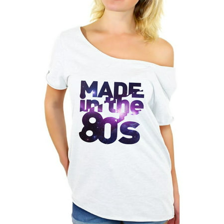 Awkward Styles Made in 80s T Shirt 80s Birthday Off Shoulder Shirt Womans 80s Accessories 80s Rock T Shirt Retro Vintage Rock Concert T-Shirt 80s Costume 80s Clothes for Women 80s Outfit 80s Party - 80s Birthday